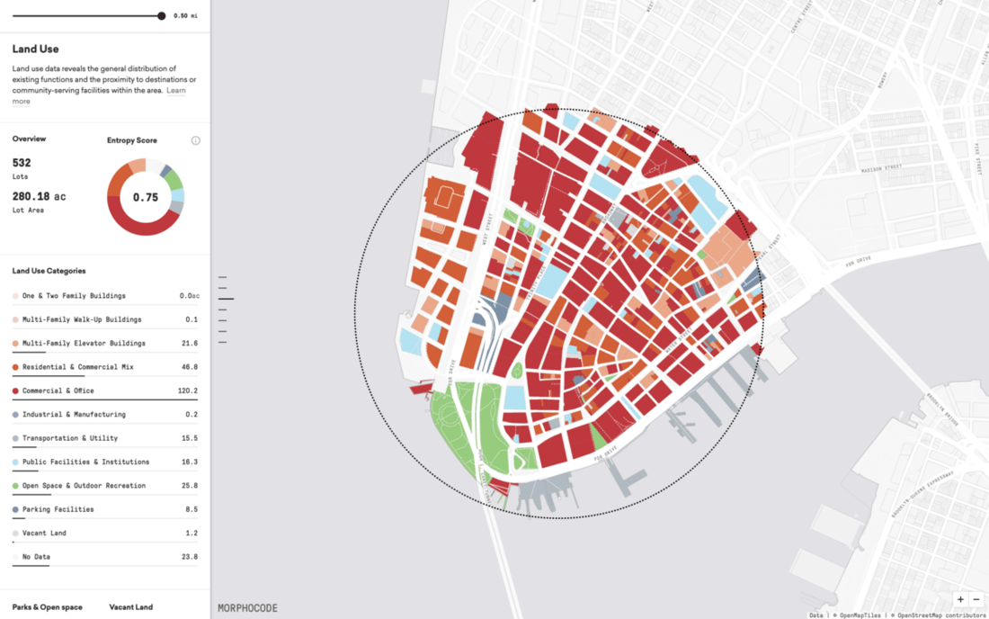 Morphocode Explorer - City Planning Software and Tools